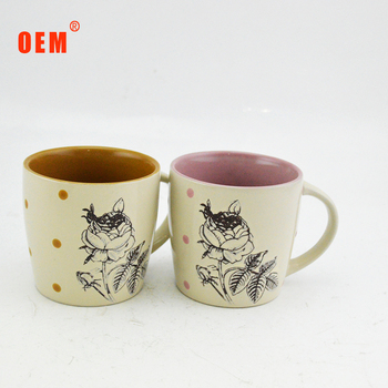 top quality custom logo porcelain coffee and milk cups imported from china