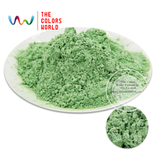 Apple Green Color Pearlescent pigment,pearl luster pigment,Mica Powder DIY  Makeup Nail Design ,Nail Polish 1 lot= 50g