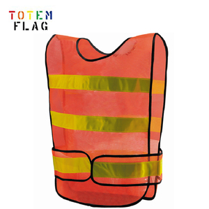 Orange Safety Vest With Reflective Gold Strip