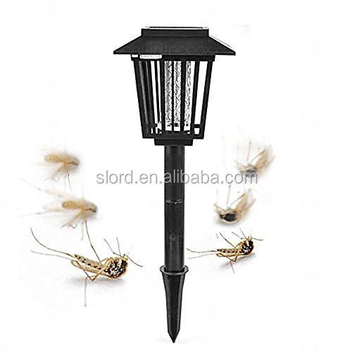 Solar Powered UV Lamp Light Fly Insect Bug Mosquito Kill Zapper Killer NEW