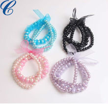 Wholesale - Fashion Imitation Pearls Bracelets For Girls With Butterfy Children Jewelry