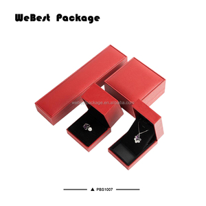 Webest newest hot stamping logo plastic full set jewellery box with velvet lining