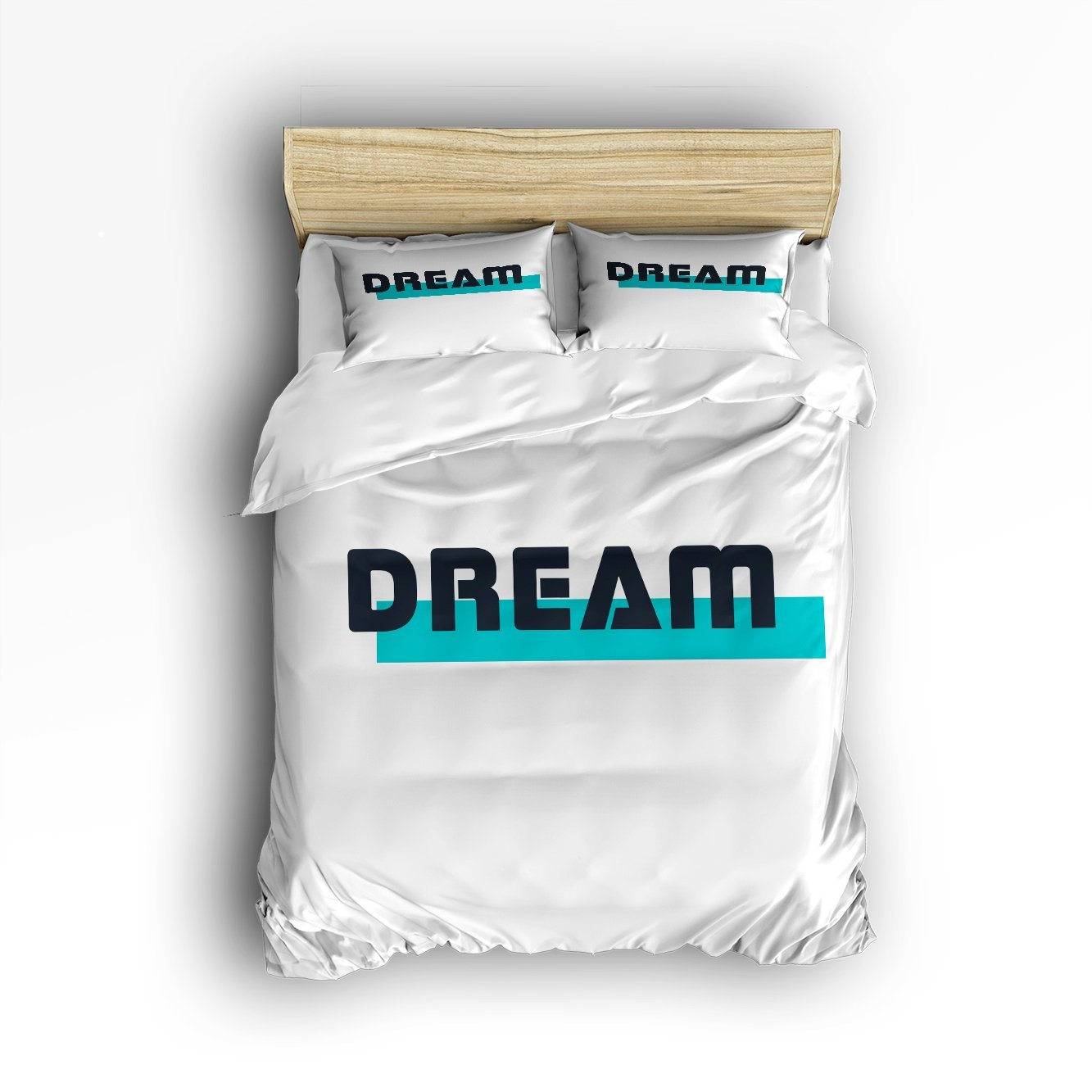 KAROLA Lightweight Microfiber Duvet Cover Set Luxury Soft Duvet Cover Set - Hotel Quality & Hypoallergenic with Zippered Closure DREAM