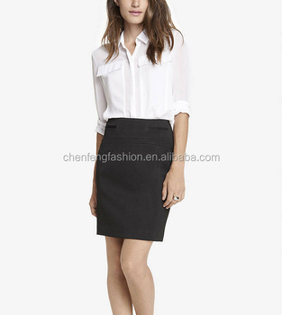 Chefon Women Formal White And Black Fashion Blouse And Skirt - Buy ...