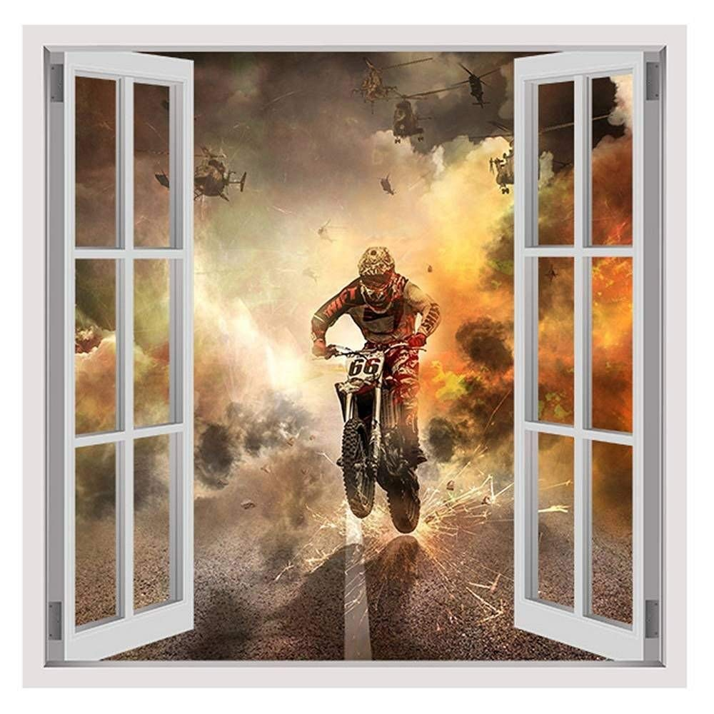 """Motorcycle Extreme Sports by Fake 3D Window 