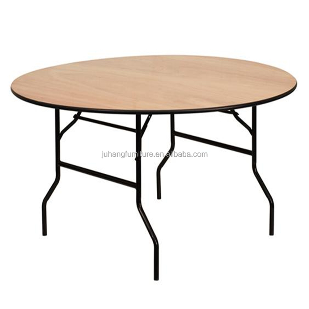 72 quot round wood folding banquet table with clear coated finished top - 72 Big Wooden Round Folding Table For Banquet Buy Folding Table