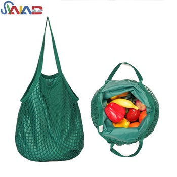 Fashion Natural Eco Reusable Cotton Mesh Produce Lining Style Bag