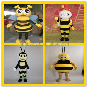 HI custom make party yellow cute bee mascot costume for kids