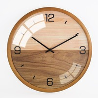 13 Inch Arab Number Display Wooden Wall Clock Wholesale Factory Price Home Decor Fashion Design Wall clock