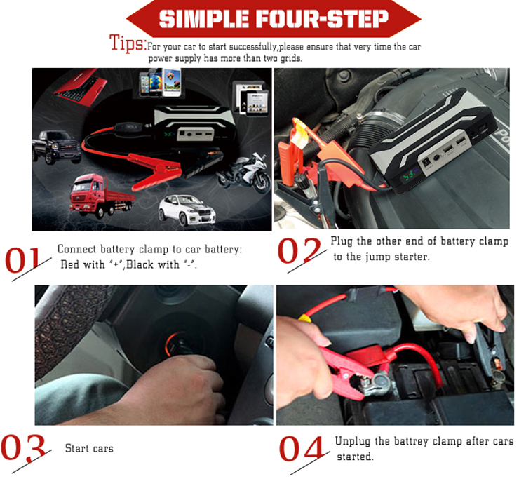 Cheap wholesale powerbank 12v/24v auto jump starter