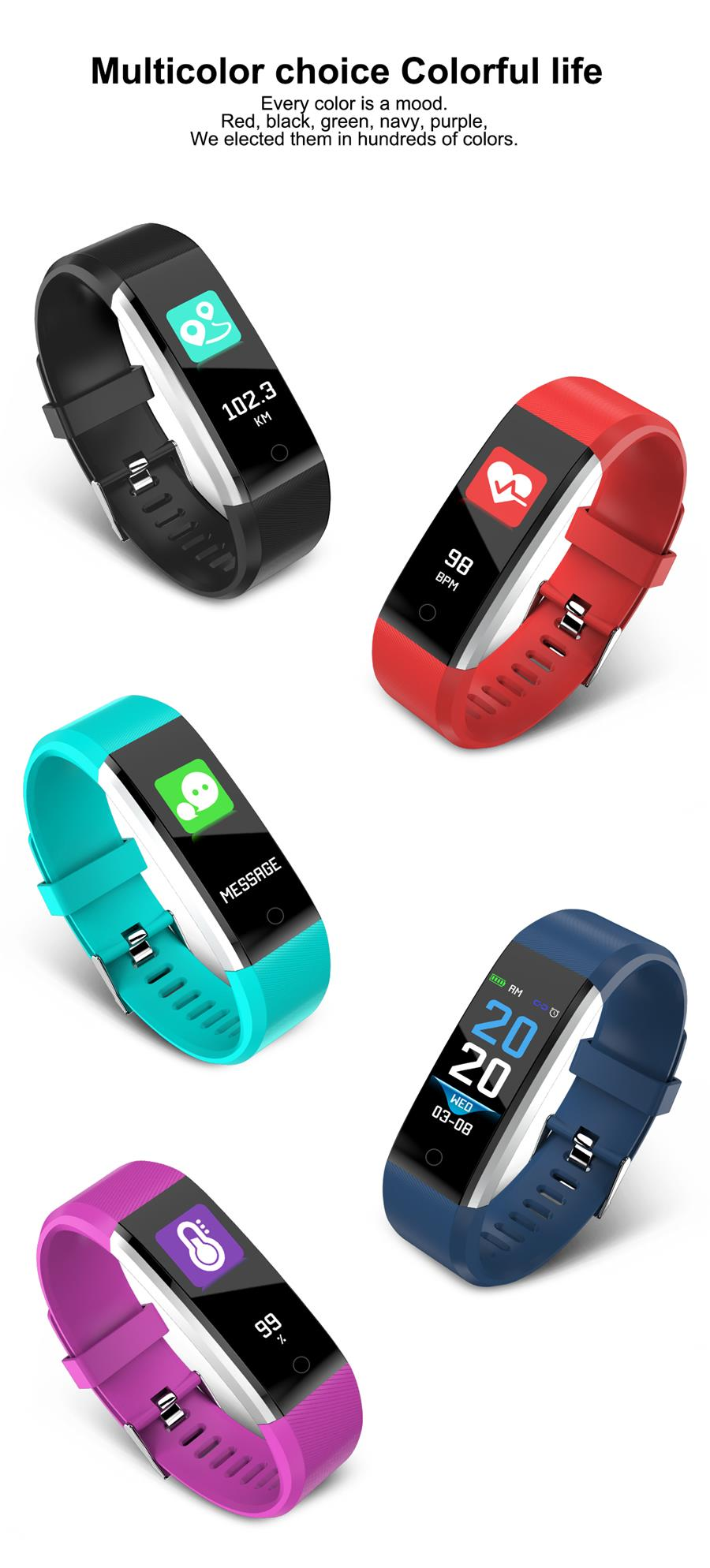 Hot Sell Fitness Watch Pedometer Fitness Smart Bracelet  Smart Band  Step Counter Smart Watch M19