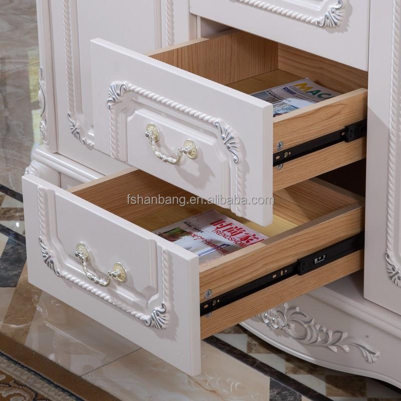 Blanco antiguo estilo europeo franc s 3 puerta de madera for Muebles modernos estilo europeo