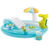 Summer Toys Inflatable Swimming Pool Play Center For Baby Kids Toy With Water Slide And Sprayer Cartoon Pool For Outdoor Sport