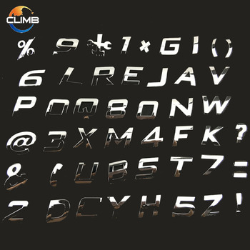 custom chrome letters for cars3d chrome letters numbers sticker