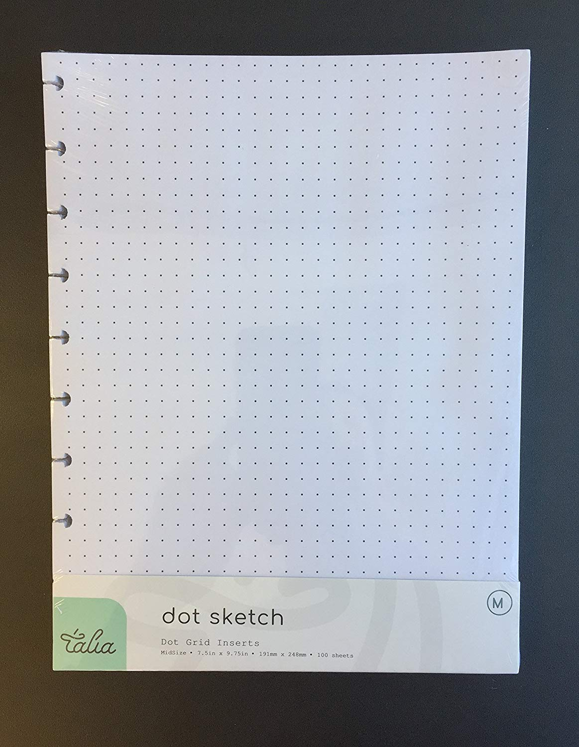 Talia Discbound Notebook, Refill, Dotted Layout (7.5in x 9.75in (Midsize))