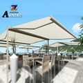 Randomly placed double sides outdoor recreation retractable freestanding awning