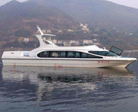 50seats Fiberglass Passenger Ferry and Crew Boats for Sale