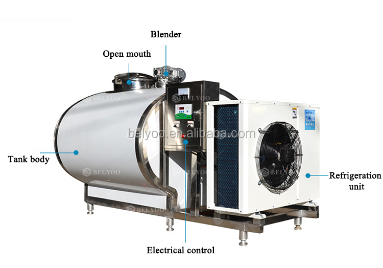 High quality Milk cooler tank for sale Easy operation milk cooling machines price