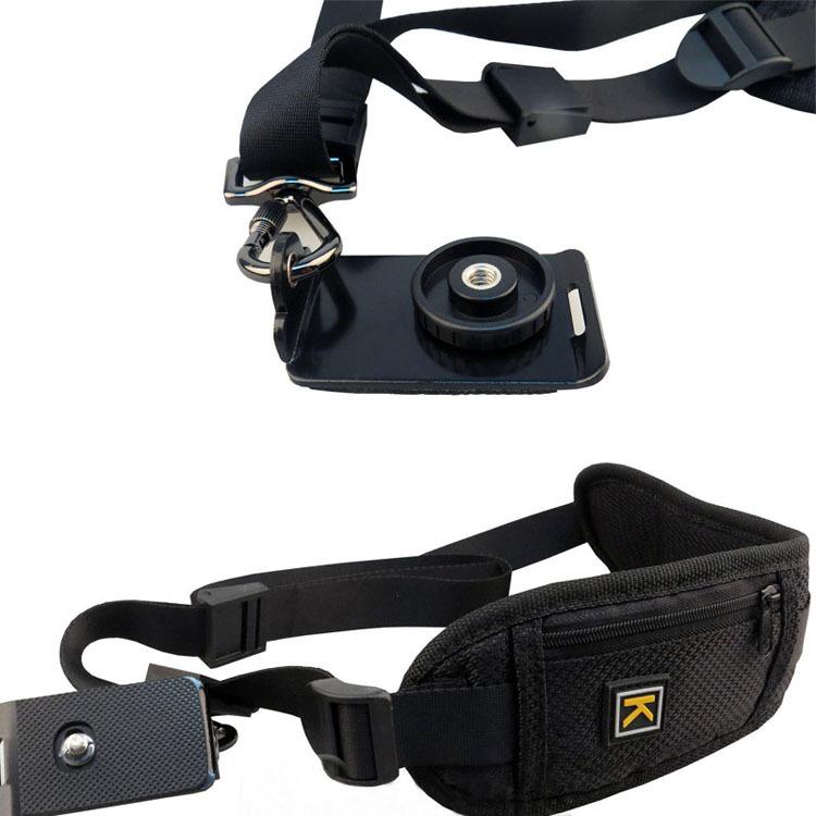 ce0c4ab4a47 CADEN Personalized Nylon Black Rapid Vintage DSLR Camera Shoulder Rapid  Strap Quick Rapid Shoulder Belt