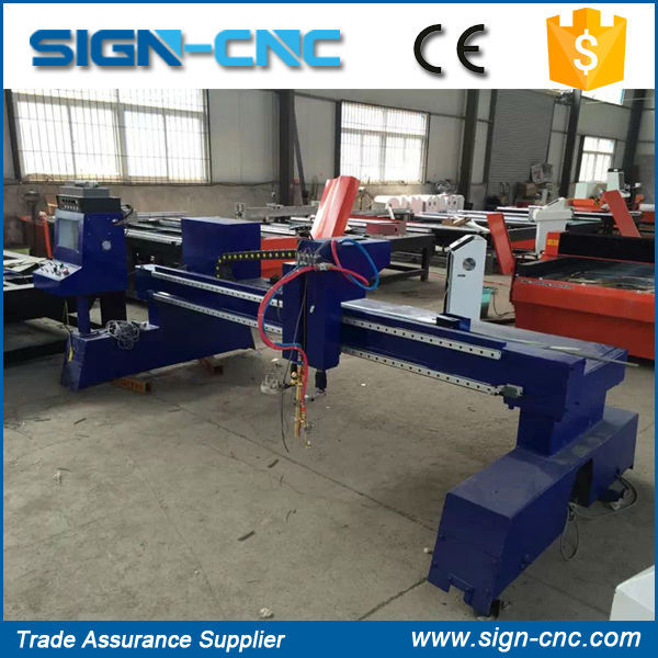 Hot sale Haibao 65A SIGN 2030 cnc gantry plasma cutting machine/8mm carbon steel plasma cutting machine