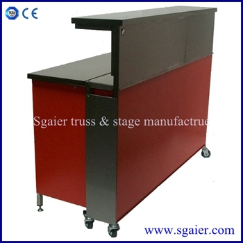 Fashionable Portable Bar Counter Design With Wheels