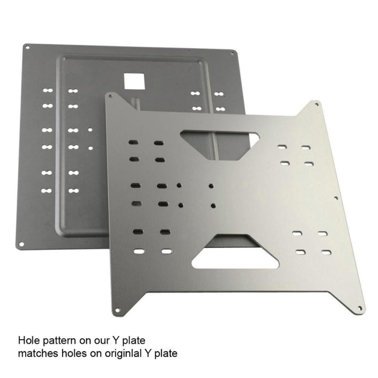 GIULY Upgrade Y Carriage Aluminum Plate for Duplicator i3 /Monoprice Maker Select <strong>V1</strong>/V2/V2.1/Plus Wanhao 3d Printer Parts