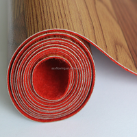 Fireproof linoleum heavy duty red felt backing vinyl flooring