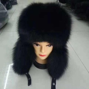 2cfd0557f12 Winter Hat Real Fox Fur Genuine Leather Russian Ushanka Hats for Mens