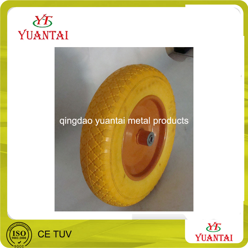 PU foam flat free solid rubber wheel barrow wheel tire 300/400/450-4 300/350/400-6 260x85