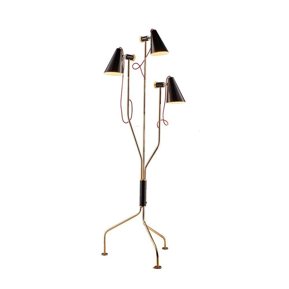 WAN SAN QIAN- Postmodern Creative Iron Triangular Floor Lamp Fashion Art Living Room Restaurant Hotel Decorative Lights 180x60cm Floor Lamp