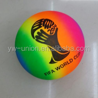 Top quality new coming rainbow yoga ball fitness gym ball rainbow PVC ball For Beach Playing