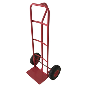 Wholesale steel garden double wheel hand trolley for warehouse use