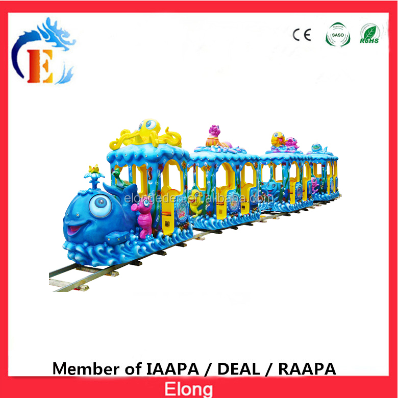 2016 Newest Elong sale amusement park rides,kids electric amusement train rides