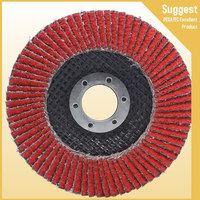Zirc Flap Disc Grinding Wheels 40 grit T27 With Plastic Fiber Backing For Polishing