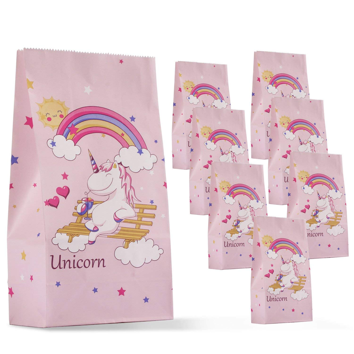 Get Quotations Unicorn Party Favor Bags Goody For Kids Gift Treat Paper Birthday Supplies