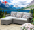 Garden Treasures Furniture Outdoor Rattan Folding Couch Wicker Sectional Sofa Bed Lounger with Love Seat