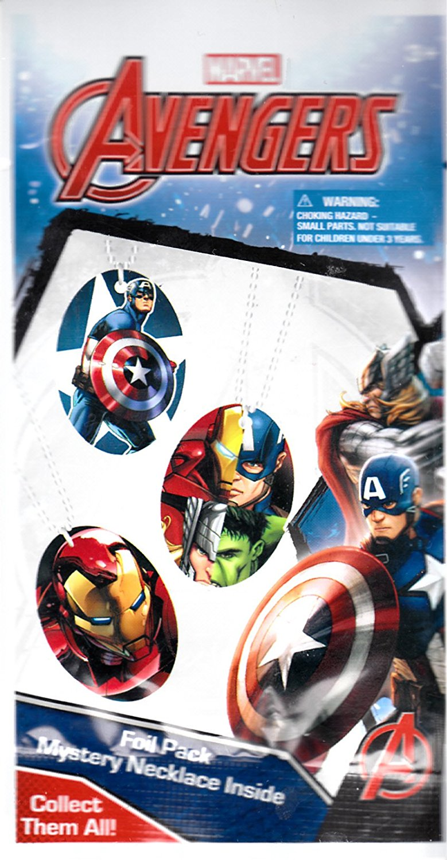 Marvel Avengers Mystery Necklace Blind Foil Pack