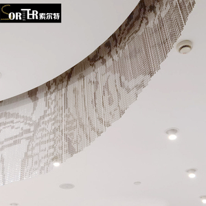 luxury hotel interior decoration chandelier lighting modern chain