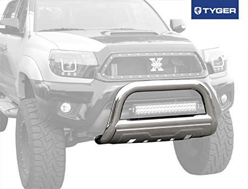 TYGER 3.5inch Oval Stainless Steel Bull Bar Fits 05-14 Toyota Tacoma