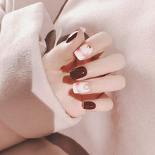 Накладные ногти винно-красного цвета, накладные ногти, художественные советы, маникюрный декор, акриловые накладные ногти, полное покрытие(Китай)