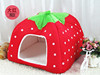 High-end Double Strawberry Style Cute Pet House, Dog Room Cat Bed
