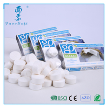 100% rayon magic towel pills packing compressed disposable towel