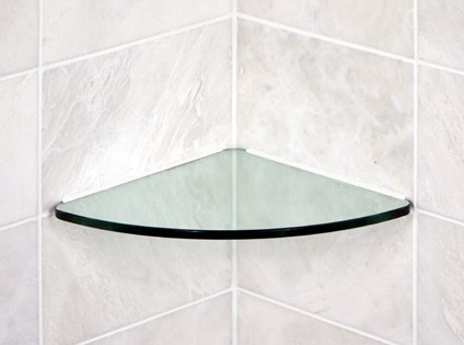 Get Quotations Floating Glass Shelves Bathroom Tempered Curved Corner Shelf 12x12 3 8