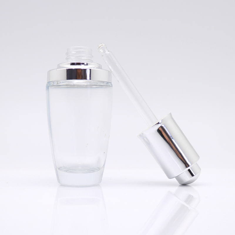 EBG10014 luxury 30ml cosmetic essential oil glass dropper <strong>bottle</strong> for serum