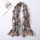 100% cashmere plaid scarf warm and comfortable in winter