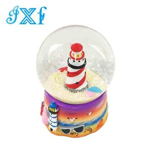 Hot Sales New2018 Tourist Souvenir Lighthouse Polyresin Custom Snow Globe