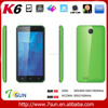 K6 Smartphone 5.0 inch HD IPS Android 5.1 3G Quad Core 1GB RAM +8GB OTG mobile phone smartphone