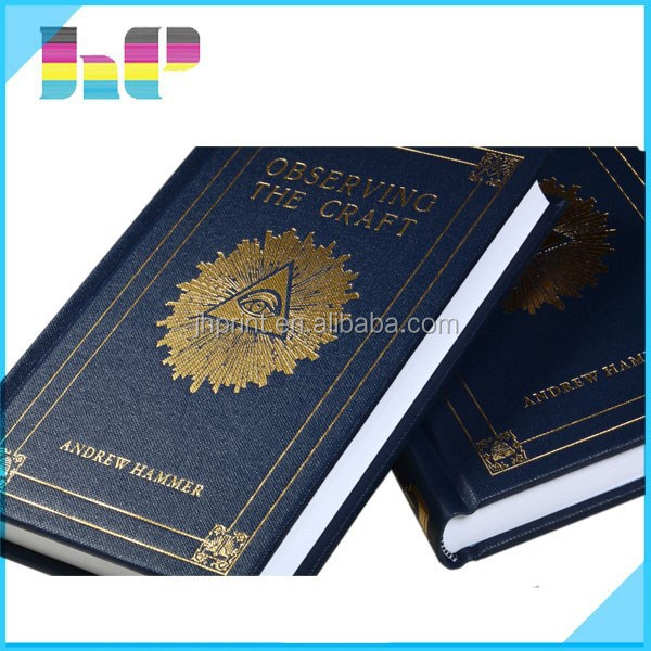 Hard cover book printing/customized note diary printing services