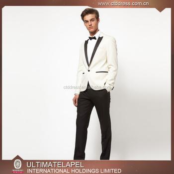 2017 Custom Tailored Unique Groom Wedding Tuxedos White Tuxedo Suit For Men