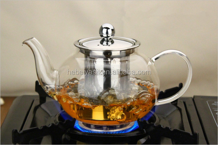 600ml microwave safe glass chinese tea pot with strainer